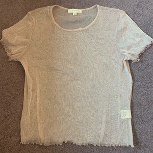 pink sparkly sheer shirt from pacsun